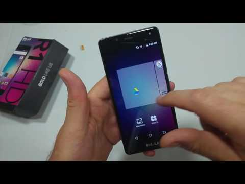 BLU R1 HD How to change or set your Home screen