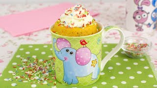 Learn how to make a vanilla mug cake with colorful sprinkles in the microwave, in less than 5 minutes. This mug cake is very easy to make and absolutely delicious! ► How to Make Whipped Creamhttps://www.youtube.com/watch?v=E4n4AqjPKVo▼ INGREDIENTS LIST:- 2 tablespoons of melted butter- 1 egg- 1 tablespoon of milk- 1 teaspoon of vanilla extract- 2 tablespoons of sugar- 3 tablespoons of wheat flour- 1/4 teaspoon of baking powder- 2 tablespoons of rainbow sprinkles- Whipped cream, for garnish⇨ Music ⇦Carefree by Kevin MacLeod is licensed under a Creative Commons Attribution license (https://creativecommons.org/licenses/by/4.0/)Source: http://incompetech.com/music/royalty-free/index.html?isrc=USUAN1400037Artist: http://incompetech.com/⇨ Subscribe to Very Easy Recipes! ⇦http://www.youtube.com/subscription_center?add_user=VeryEasyRecipes⇨ Follow us on Social Networks! ⇦- Twitter: http://twitter.com/VeryEasyRecipes- Facebook: http://facebook.com/VeryEasyRecipes- Instagram: http://instagram.com/VeryEasyRecipes- Google+: http://plus.google.com/+VeryEasyRecipesTweet and tag us in your recipe attempts!P.S. We are not native speakers of English, so we apologize if there are any incomprehensible words, typos or grammatical errors in this video. We hope you enjoy the recipe!