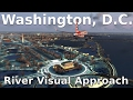 [FSX] Washington, DC RIVER VISUAL APPROACH (NEW SCENERY!)