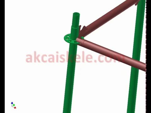 AKCA Scaffolding - flanged type - installation connection details