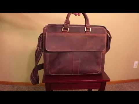 Leather laptop messanger bag -Texbo Vintage Simple Cow Leather Durable Laptop Tote Briefcase