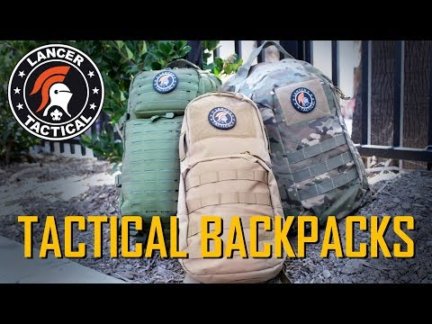 3 Tactical Backpacks under $50! Lancer Tactical