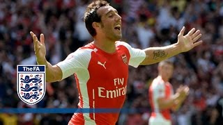 Cazorla Goal - Arsenal V Man City 3-0 | Goals&Highlights