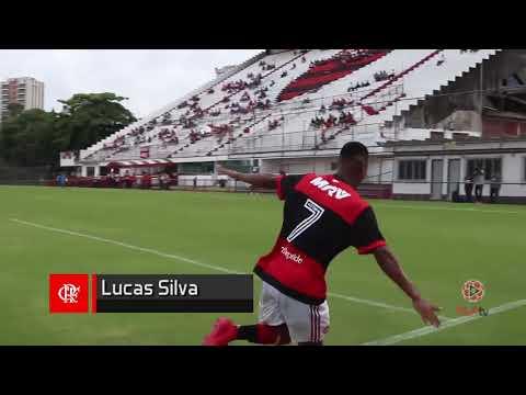 Gol pelo Sub20 do Flamengo recebendo um cruzamento...