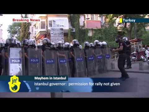 Anti-Erdogan Protests: Turkish riot police use tear gas and water cannons to clear Taksim Square
