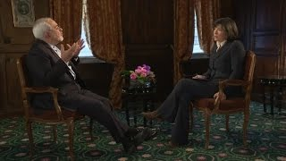Christiane Amanpour speaks with Iranian Foreign Minister Javad Zarif on the sidelines of the Munich Security Conference, in Munich, Germany.