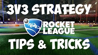 A strategy video for 3v3 play in rocket league, this strategy is primarily for beginner to intermediate players.