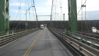 Lansdowne (ON) Canada  city photos gallery : Driving a truck over the Thousand Islands Bridges