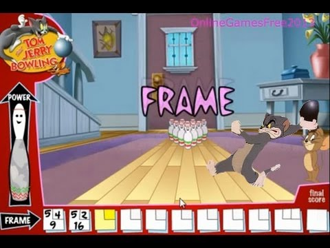 Tom and Jerry Online Kids Games Tom And Jerry Bowling Cartoon Game