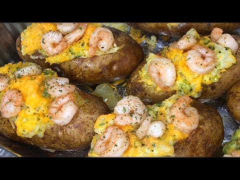 Easy Dinner Meals | Twice Stuffed Baked Potatoes With Shrimp