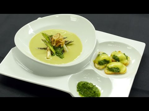 IU Chef Chris Gray Demonstrates How To Make An Asparagus Soup For Spring