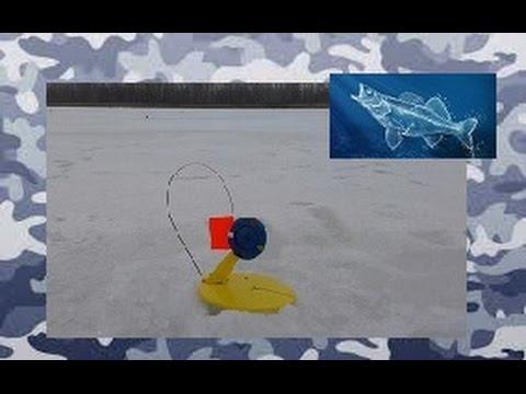 Монтаж зимней жерлицы для ловли ночью