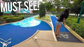 Video MUST PLAY ONE OF A KIND MINI GOLF COURSE AT DISNEY WORLD! LUCKY HOLE IN ONES! MP3, 3GP, MP4, WEBM, AVI, FLV Desember 2018
