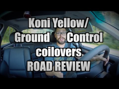 Koni Yellow Shocks with Ground Control Coilovers REVIEW (видео)