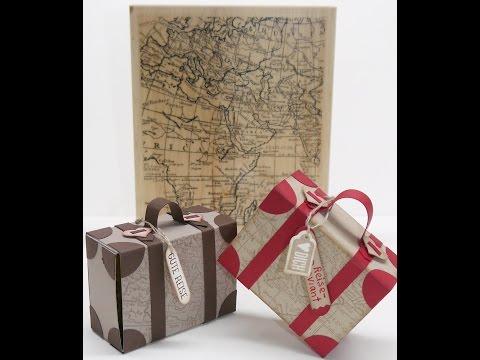 Koffer basteln als Geschenkverpackung , Anleitung mit Stampin Up! Produkten