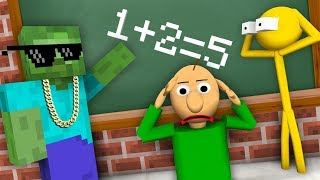 Video Monster School : STICKMAN & BALDI'S BASICS CHALLENGE - Minecraft Animation MP3, 3GP, MP4, WEBM, AVI, FLV September 2018