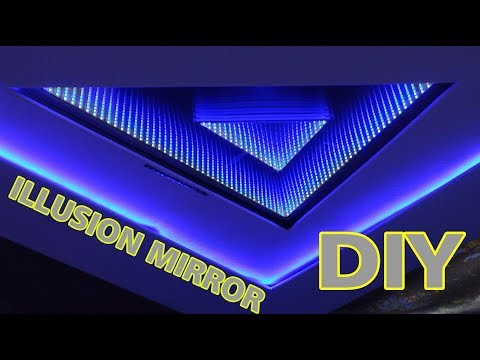 mirror - How to make an animated LED infinity mirror. Pretty awesome 3D Illusion huuge and actually easy to make! http://infinity-mirror.blogspot.com Acrylic Plexigla...