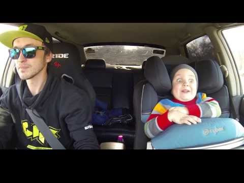 Video: Father And 3 Year Old Son Car Drifting!!!