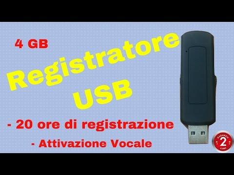 REGISTRATORE NASCOSTO in chiavetta USB con attivazione vocale
