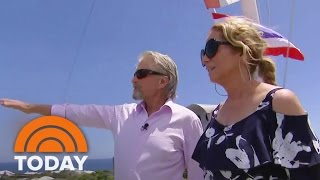 Oscar-winning actor Michael Douglas' mother was born in Bermuda, so he has plenty to show Kathie Lee Gifford on a personal...