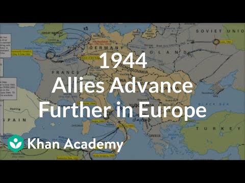 1944 - Allies advance further in Europe (video) | Khan Academy