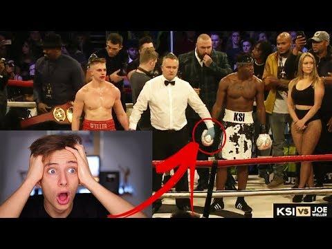 KSI VS JOE WELLER BOXING FULL FIGHT HIGHLIGHTS *LIVE REACTION* GeorgeMasonTV (видео)