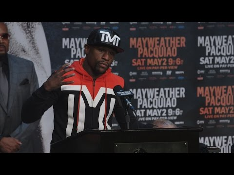floyd mayweather vs manny pacquiao - press conference highlights