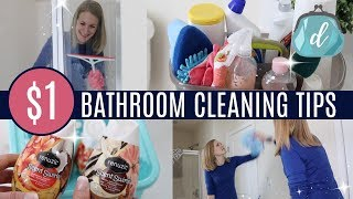 $1 CLEANING TIPS! 💙 Bathroom Deep Clean & Organize with Me (feat. Renuzit)
