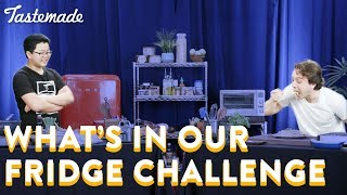 What's In Our Fridge Challenge With Hudson Yang l Frankie Celenza by Tastemade