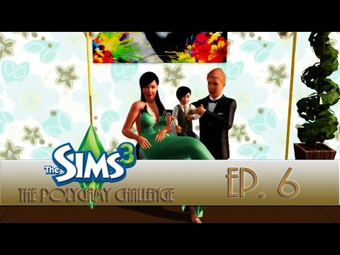 The Sims 3: Polygamy Challenge Ep. 6 [A Move & Promotion for the Family]