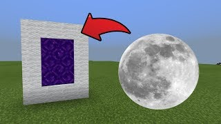 How To Make a Portal to the Moon Dimension in MCPE (Minecraft PE)