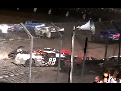 Dirt Track LATE MODEL Main Wild Crash filled Race like Destruction Derby