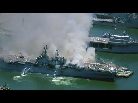 ΗΠΑ: Τουλάχιστον 21 τραυματίες εξαιτίας έκρηξης και πυρκαγιάς σε πολεμικό πλοίο…
