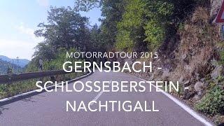 Gernsbach Germany  city photos : Ride On Motorradtour 2015 Gernsbach - Schloss Eberstein - Nachtigall Schwarzwald GoPro Hero4