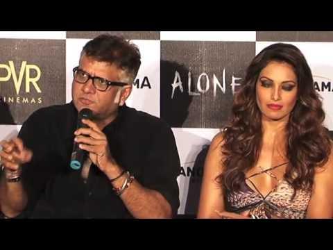 Alone (2015) Bipasha Basu-Karan Singh Grover At The First Look Promo Launch Of 'Alone'