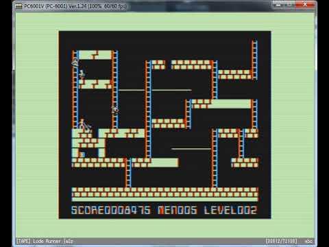 Lode Runner - NEC PC 6001 - emulador PC6001V ver 1.24