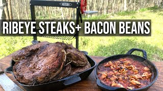 Ribeye Steak 'n Bacon Beans Recipe by BBQ Pit Boys
