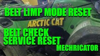 3. Arctic Cat Kawasaki 650 v2 Belt light Limp mode how to Repair / Reset