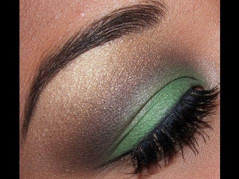 Urban Decay Green and Brown eyeshadow tutorial!