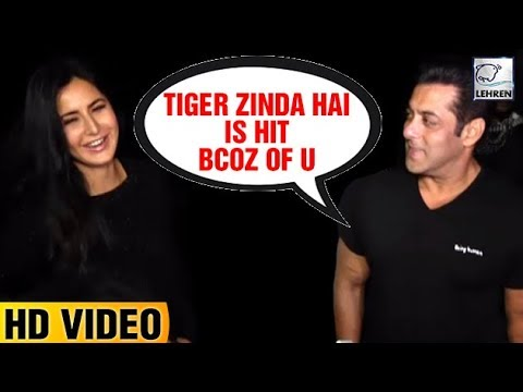 Salman Khan Showers Love For Katrina Kaif | Tiger