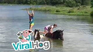 faze tari caii si fetele in apa