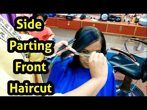 How to do Side Parting Front Haircut  Neha Beauty Hub