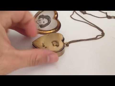 Vintage Miniature Music Box Pendant Necklace and Photo Locket Personalized
