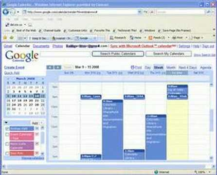 how to sync owa calendar with google calendar
