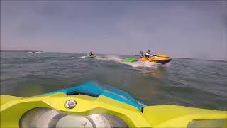 7. civic holiday seadoo riding - lake simcoe