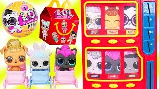 Video LOL Surprise Dolls Wave 2 Pets Vending Machine + McDonalds Happy Meal Drive Thru MP3, 3GP, MP4, WEBM, AVI, FLV Maret 2018