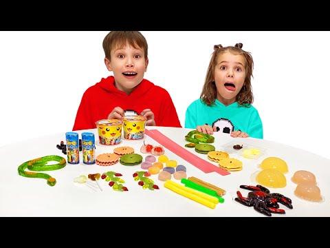 Max y Katy prueban los dulces para la velocidad