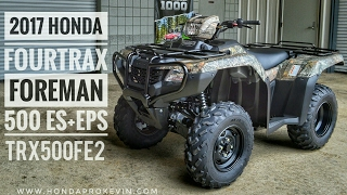 3. 2017 Honda Foreman 500 ES + EPS 4x4 ATV (TRX500FE2H) Walk-Around Video | Camo | HondaProKevin.com