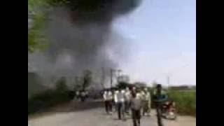 Orai India  City new picture : Old Memories Fire in a Tyre Factory in Orai UP India 003