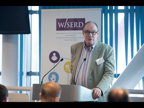 Will Hutton, write and political economist, delivers his keynote speech at the WISERD 2015 Annual Conference